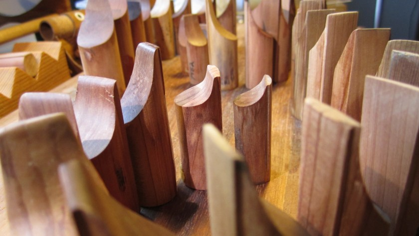 Bloques de flautas de pico. Foto: Fernando Paz