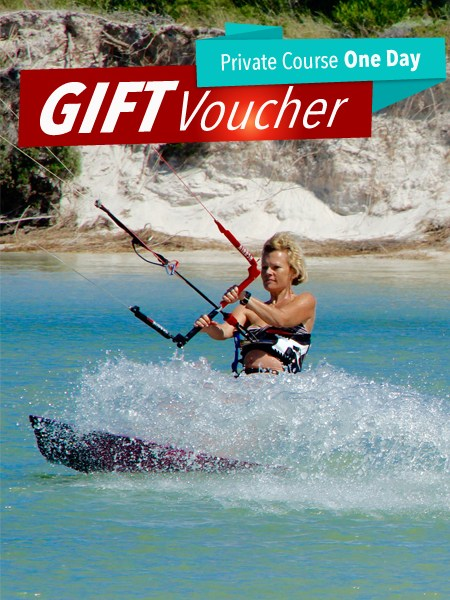 Voucher-Private-Course-1-Day kitesurfing course