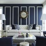 azul marinho na decoracao da sala paredes