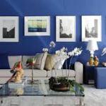 azul na decoracao chique sala