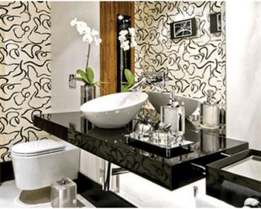 lavabo com tampo preto
