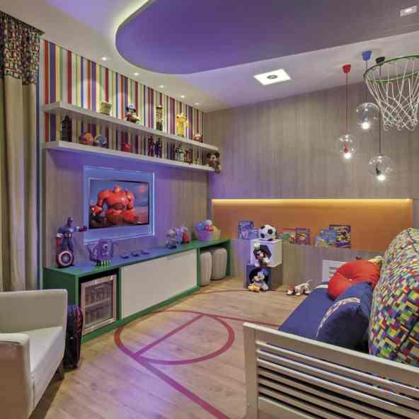 quarto infantil colorido e divertido