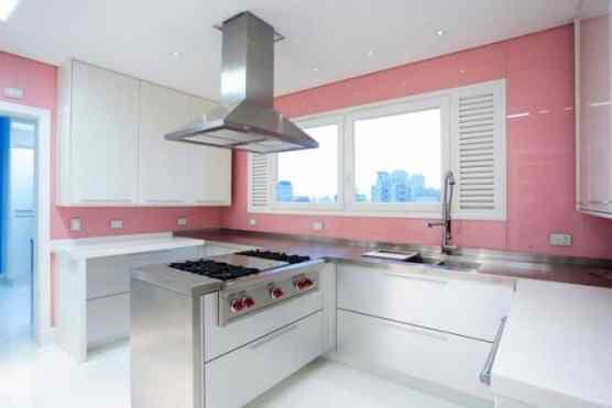 03 quartz rose decoracao na cozinha parede