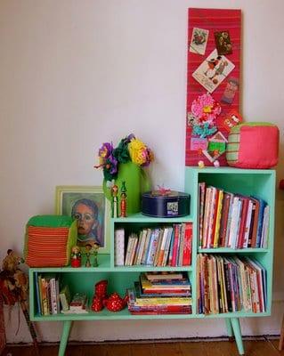 06 estante retro verde na decoracao