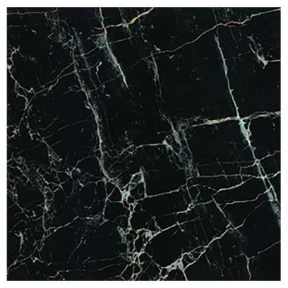 Porcelanato brilhante rajado Marble Black Artens
