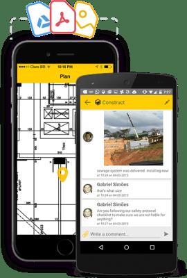 comunicação em projetos de construção