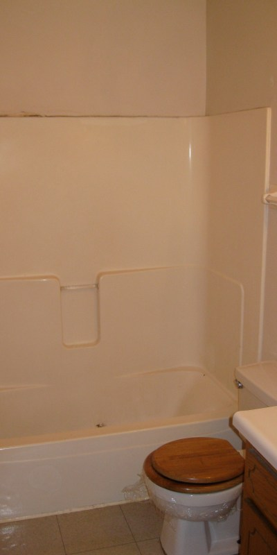 Before the remodel of the upstairs bathroom