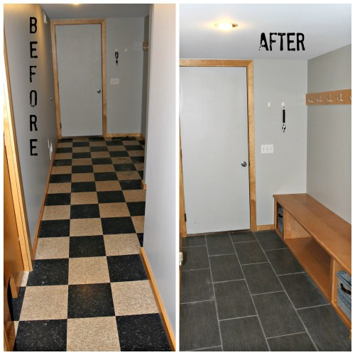 Entry Remodel Before After