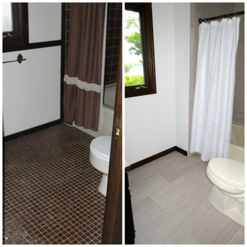 Before and After of Bathroom Tile Remodel, construction2style, Jamie Molitor