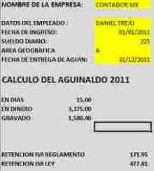 calculo aguinaldo 2011 thumb Calculadora de Aguinaldo 2011   Saber cuanto ISR te retendran y cual te conviene