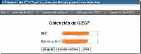 RFC CIEC PARA CIECF thumb Clave CIECF   Como Obtenerla o Verificarla en la Pagina del SAT