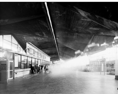 Michał Łuczak, Katowice Railway Station, from the series 'Brutal, gelatin silver print, 55 x 70 cm, unframed