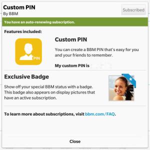 BBM Custom Pin