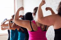 women flexing