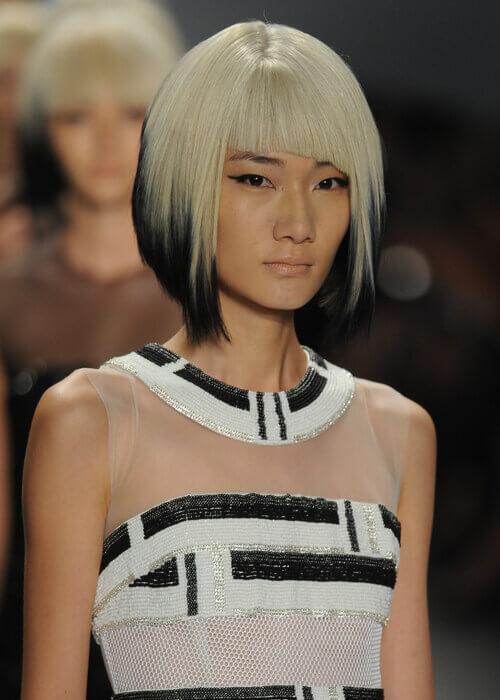 Dual Toned A-Line Bob Hair Cut