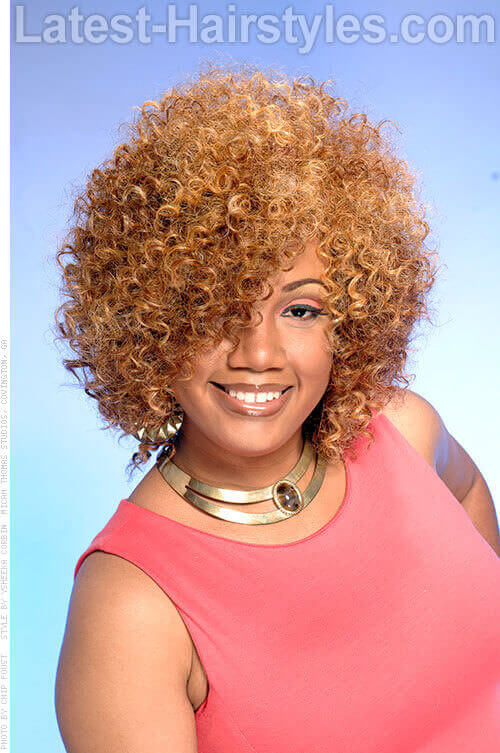 Curly Bob with Soft Rounded Shape