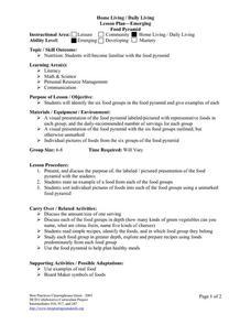 lesson plan food pyramid foodstutorial org