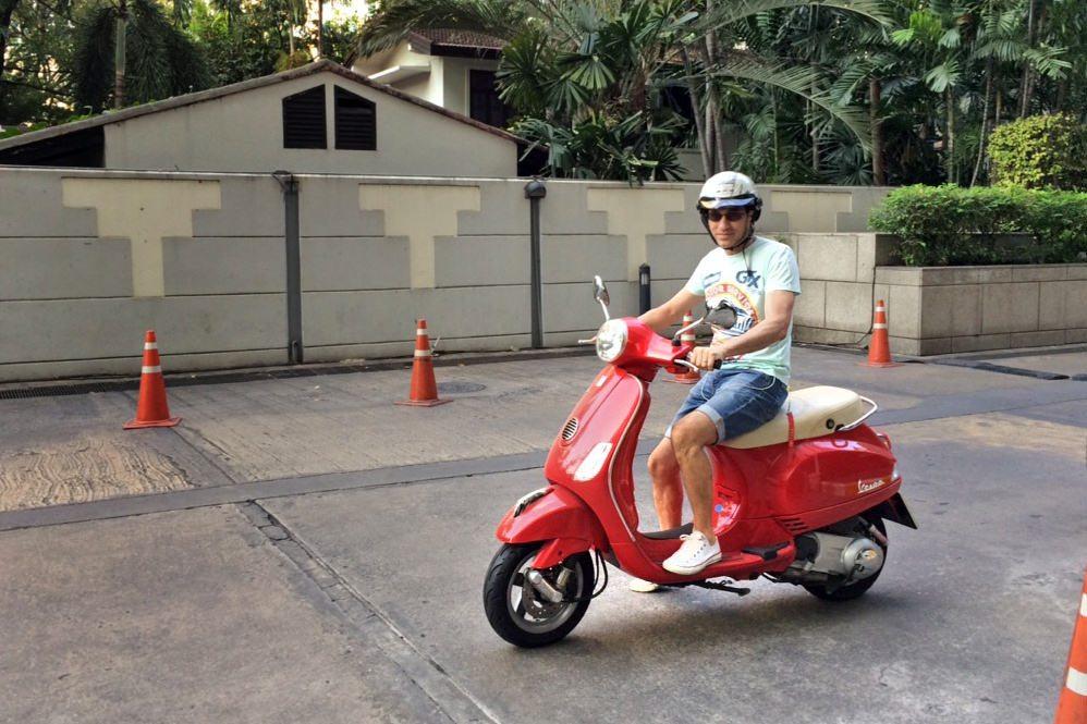Riding a bike in Thailand