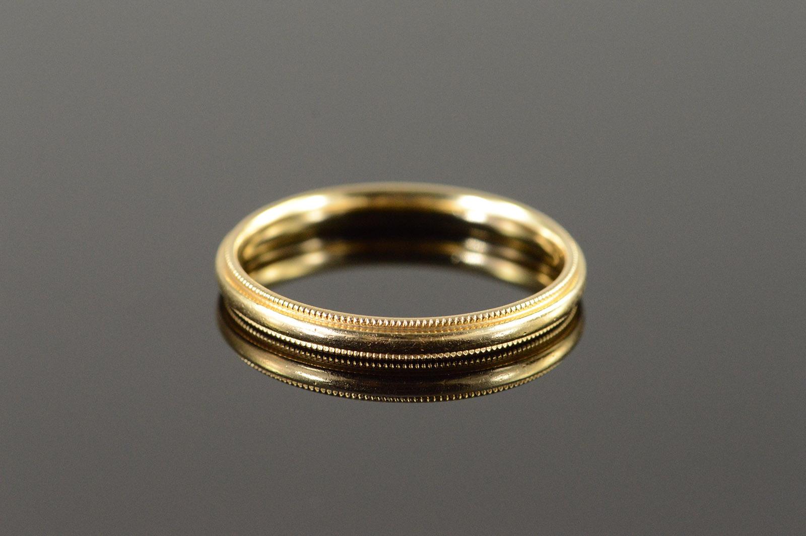 milgrain beaded edge wedding ring 14k white gold milgrain wedding band Milgrain Edge Wedding Ring in 14k White Gold 8mm