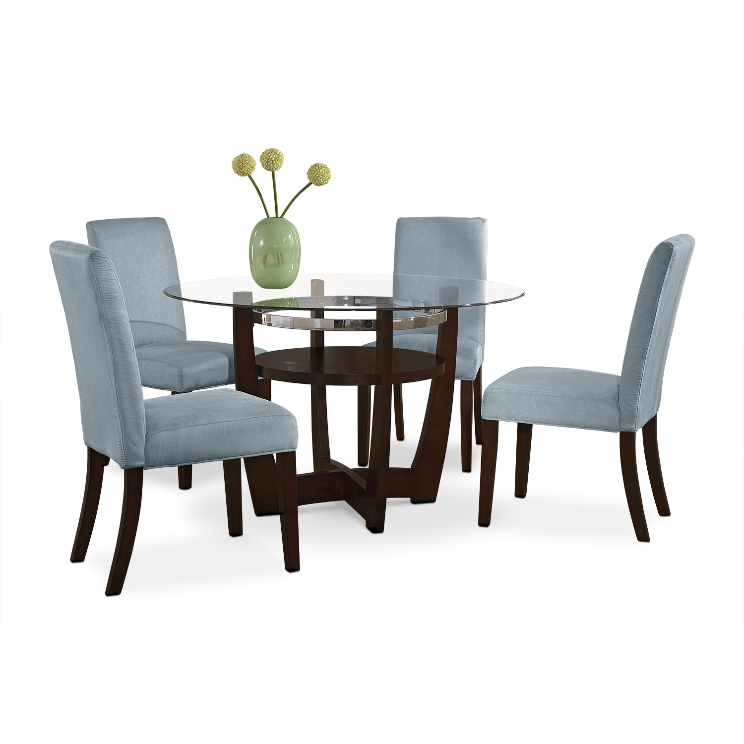 dinettes kitchen tables and more Alcove Dinette with 4 Side Chairs Aqua