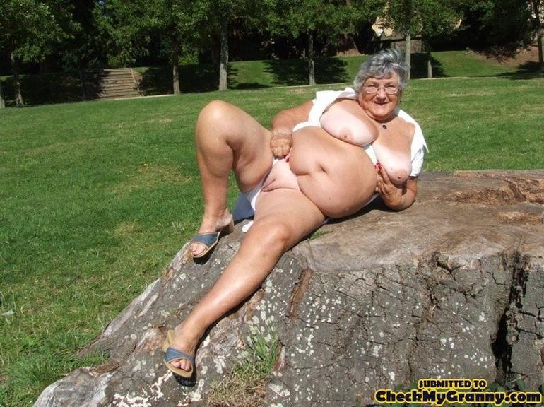very skinny old granny naked