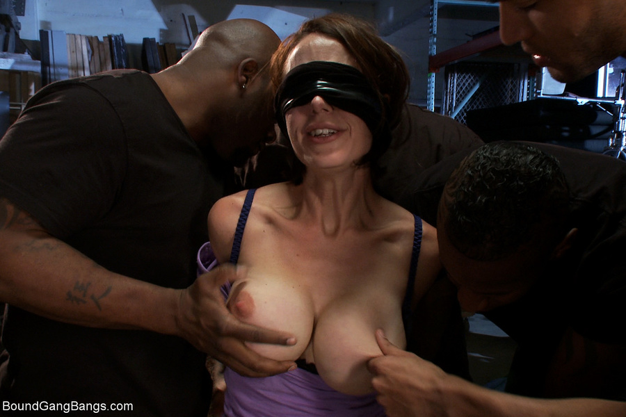blindfolded wife party