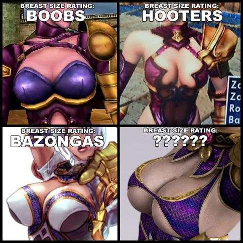 Are soul calibur video game boobs