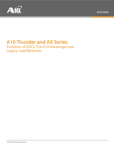 A10 Thunder and AX Series