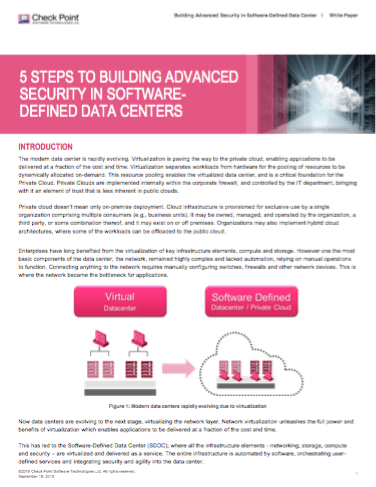 5 Steps to Building Advanced Security in Software-Defined Data Centers