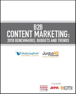 BtoB Content Marketing Report