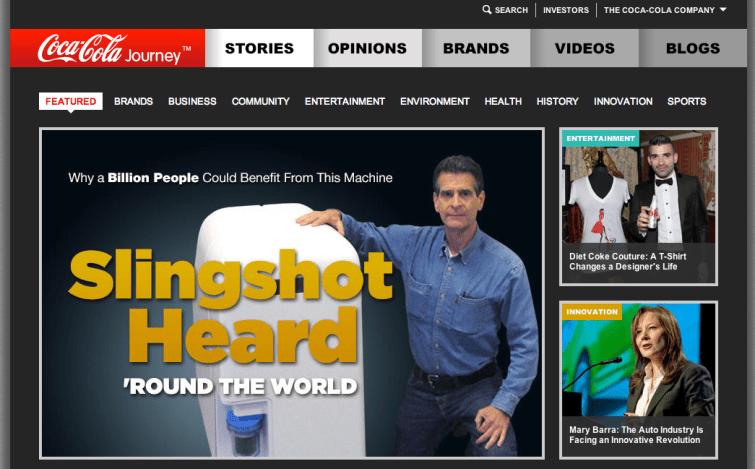 content marketing institute Coca-Cola Content Marketing- Coca-Cola Journey