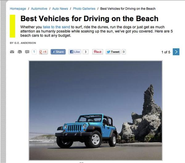 content marketing strategy, beach drives