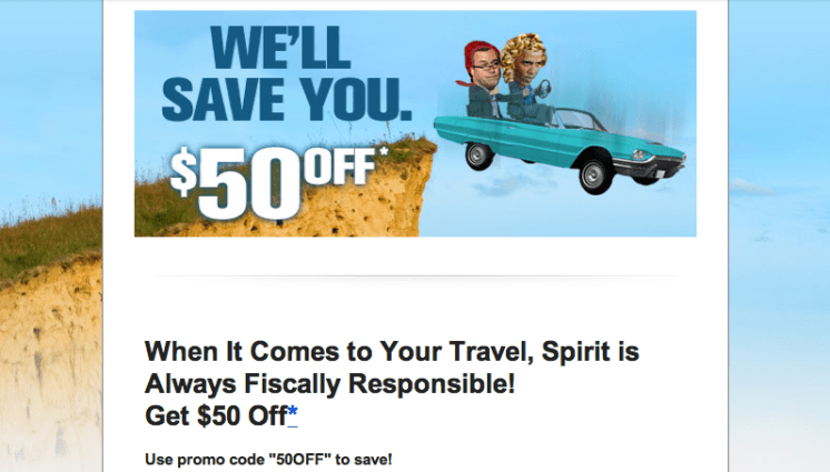 branded content, Spirit Airlines fiscal cliff