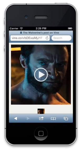 wolverine-movie trailer on vine