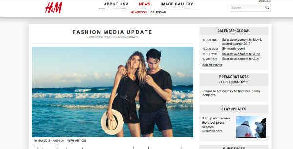 H&M social newsroom
