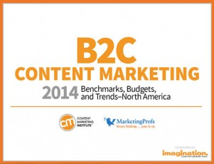 b2c content marketing research title page