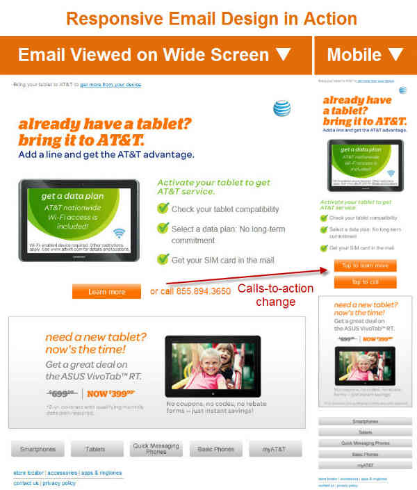 responsive email design-at&t