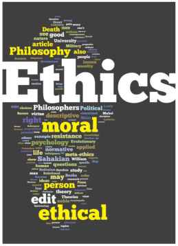ethics word cloud-content curation