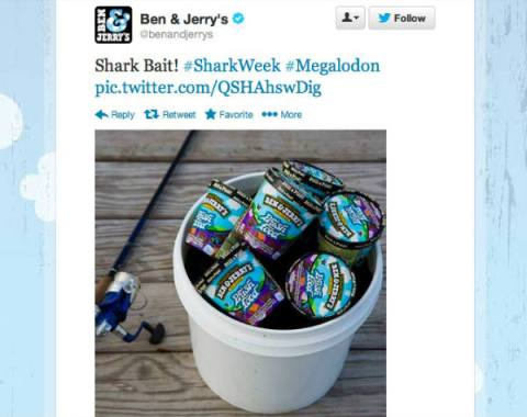 ben and jerrys sharkweek tweets