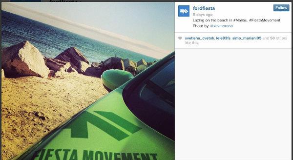ford fiesta-instagram