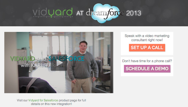vidyard at dreamforce-cta example
