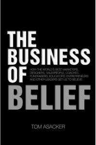 book cover-business of belief
