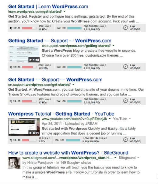 search example-wordpress