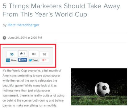 example-social sharing buttons-soccer ball image