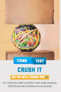 crushing rubber band ball