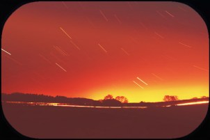 sky image with star trails