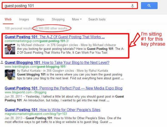 rank #1 in Google