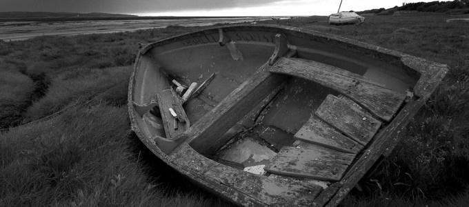 Old boat at Heswall