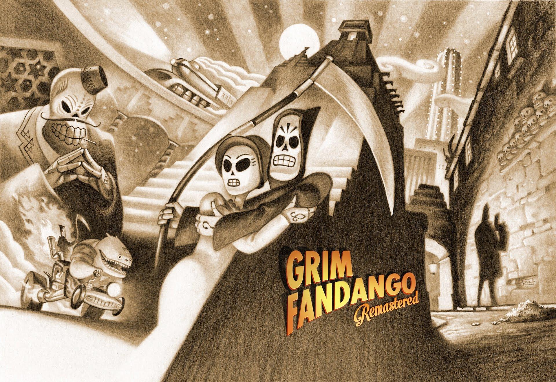 Grim Fandango Remastered: Drama, Horror e Tragédia com Manny Calavera