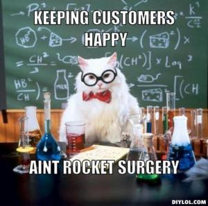 chemistry cat keeps customers happy by A/B testing